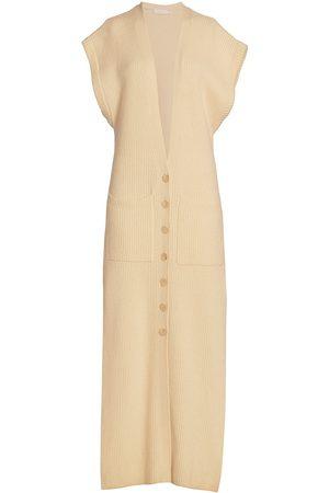 JONATHAN SIMKHAI Women's Selma Loungewear Longline Vest - Ecru - Size Large