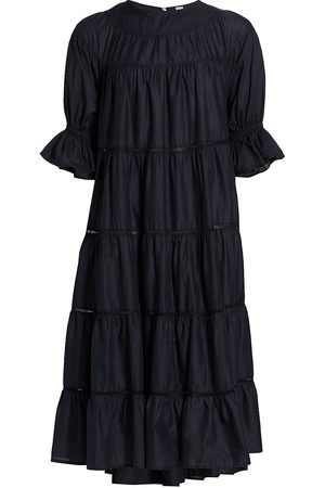 Merlette Women's Paradis Midi Dress - Navy - Size Medium