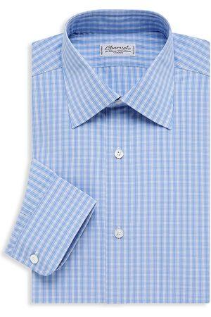 Charvet Men's Small Picnic Plaid Dress Shirt - Peri - Size 16