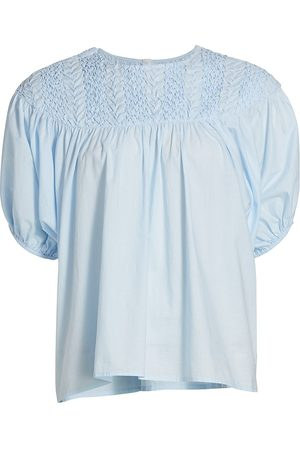 Merlette Women's Paz Puff-Sleeve Blouse - Light - Size Small