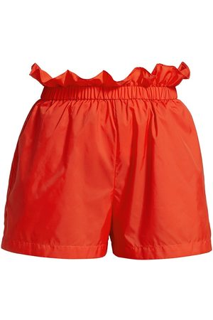 Staud Women Shorts - Women's Caterina Paperbag Shorts - Tomato - Size XL