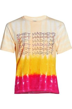 Le Superbe Women's Shift Happens T-Shirt - Tie Dye Ombre - Size Small