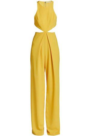 ALICE+OLIVIA Women Jumpsuits - Women's Cara Cutout Jumpsuit - Golden Rod - Size 4