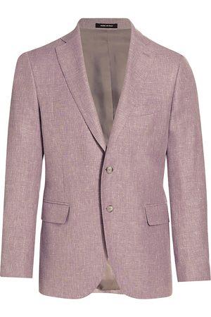 Saks Fifth Avenue Men Blazers - Men's COLLECTION Textured Sportcoat - Light - Size 38