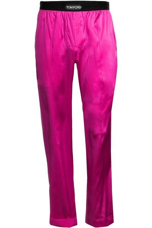 Tom Ford Men Stretch Pants - Men's Stretch-Silk Pajama Pants - Hot - Size Small