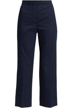 ST. JOHN Women Stretch Pants - Women's Stretch Sateen Ankle Pants - Navy - Size 16