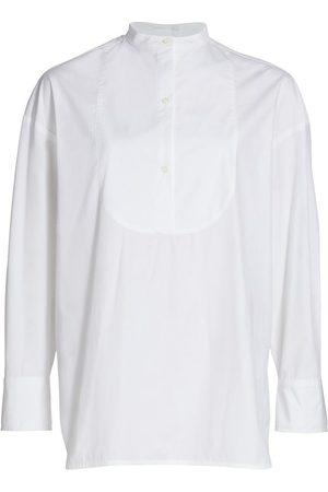 Loulou Studio Women Shirts - Women's Cotton Popeline Long Shirt - - Size Small