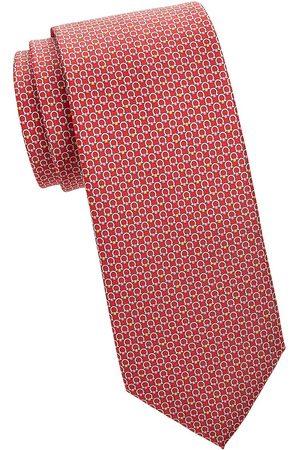 Salvatore Ferragamo Men Neckties - Men's Logo Jacquard Check Tie