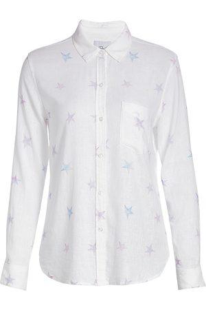 Rails Women T-shirts - Women's Charli Tie-Dye Star Shirt - Tie Dye Stars - Size Large