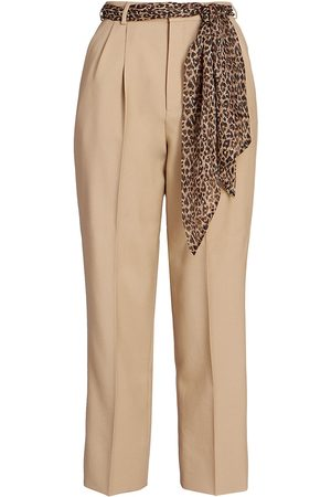 Saint Laurent Women's Wool & Silk Straight-Leg Pants - - Size 10