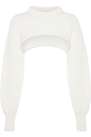 Alexander McQueen Women's Knit Bolero Sweater - Ivory - Size Medium