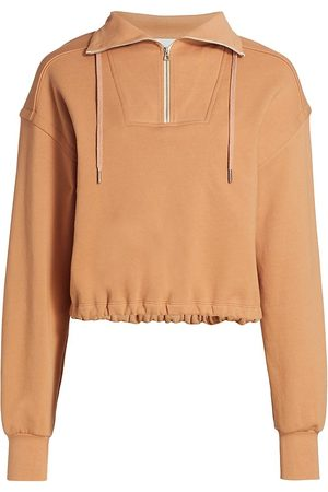 Jonathan Simkhai Standard Women Denim - Women's Zella Cropped Organic Terry Sweatshirt - Cashew - Size Large