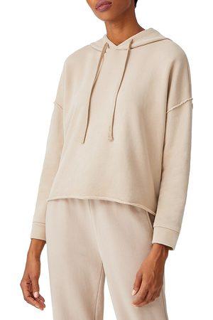 Eileen Fisher Women Hoodies - Women's Cropped Boxy Hoodie - Khaki - Size XL