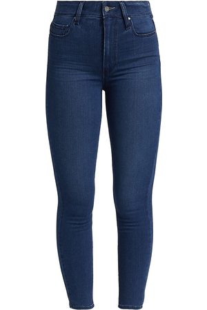 Paige Women High Waisted - Women's Margot High-Rise Ankle Skinny Jeans - Viper - Size Denim: 26