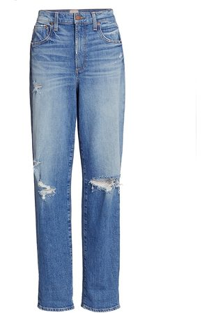 ALICE+OLIVIA Women High Waisted - Women's Katerina High-Rise Distressed Jeans - Best Intentions - Size Denim: 26