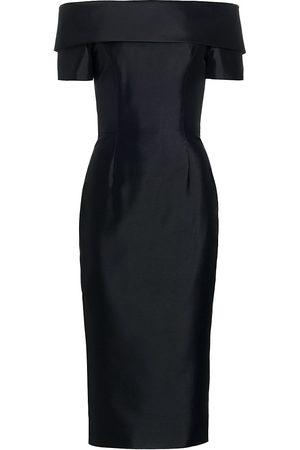 Catherine Regehr Women Strapless Dresses - Women's Alice Off-The-Shoulder Silk & Wool Cocktail Dress - - Size 4