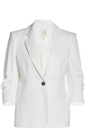 Cinq A Sept Women Denim Jackets - Women's Khloe Denim Blazer - - Size 14