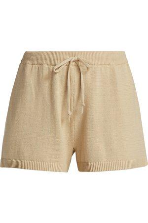 DH New York Women's Sophie Drawstring Shorts - Seashell - Size Small
