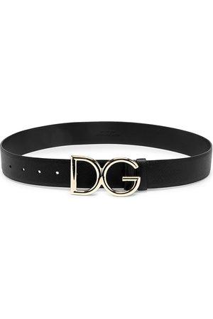 Dolce & Gabbana Women Belts - Women's Polished Logo Wide Leather Belt - - Size XXS