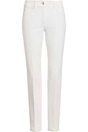 AKRIS Women Slim - Women's Slim Roll-Hem Magda Jeans - Paper - Size 2
