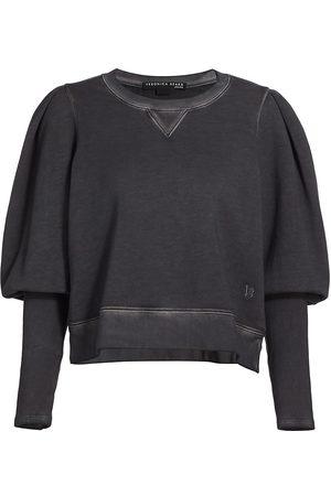 VERONICA BEARD Women Denim - Women's Analeigh Puff-Sleeve Sweatshirt - Charcoal - Size XS