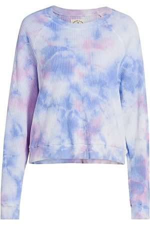 Electric & Rose Women Hoodies - Women's Cass Tie-Dye Pullover - Rosey Wave - Size Large