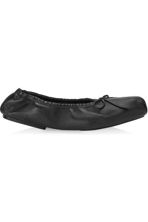 Khaite Women Ballerinas - Women's Ashland Square-Toe Leather Ballet Flats - - Size 10