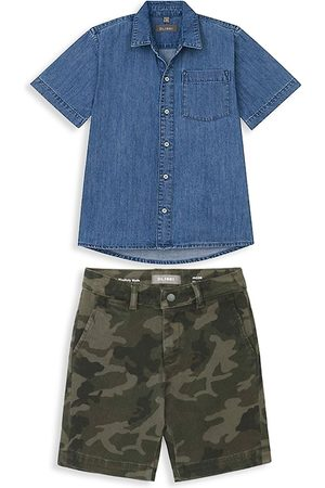DL1961 DL1961 Premium Denim Little Boy's 2-Piece Denim Shirt & Camo Shorts Set - Multi - Size 3