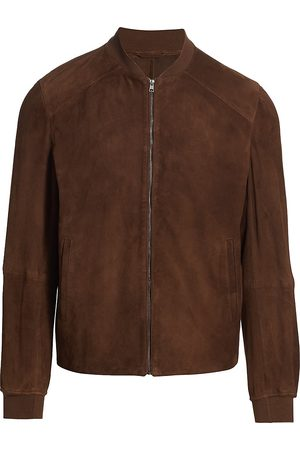 Saks Fifth Avenue Men Leather Jackets - Men's COLLECTION Suede Bomber Jacket - - Size XXL