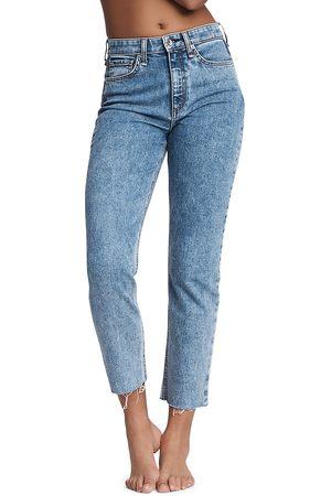 RAG&BONE Women High Waisted - Women's Nina High-Rise Ankle Cigarette Jeans - Calypso - Size Denim: 27