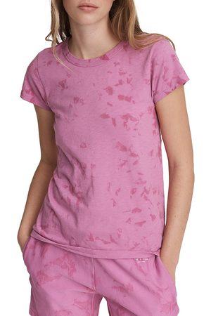 RAG&BONE Women T-shirts - Women's Tie-Dye T-Shirt - Fuschia - Size Medium