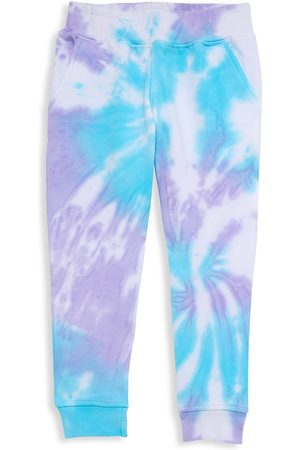 Worthy Threads Boys Neckties - Little Kid's & Kid's Mermaid Tie-Dye Joggers - Cyan - Size 2