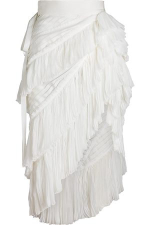 UNTTLD Women's Manolita Pleat Tiered Skirt - Ivory - Size 4