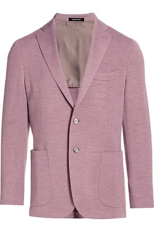 Saks Fifth Avenue Men Blazers - Men's COLLECTION Heathered Knit Sportcoat - Tea Rose - Size 52