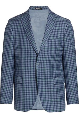 Saks Fifth Avenue Men Blazers - Men's COLLECTION Check Sportcoat - - Size 44