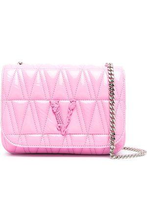 VERSACE Women Shoulder Bags - Virtus quilted crossbody bag