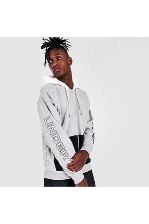 Under Armour Men Hoodies - Men's Rival Fleece Colorblock Full-Zip Hoodie Size Small Cotton/Polyester/Fleece