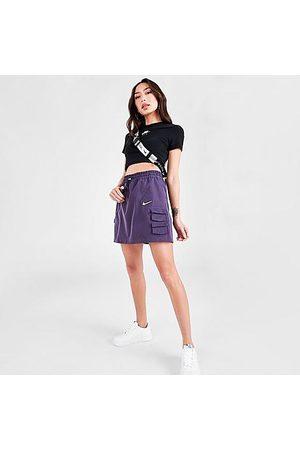 Nike Women Skirts & Dresses - Women's Sportswear Swoosh Utility Skirt in Purple/Dark Raisin Size X-Small 100% Polyester/Twill