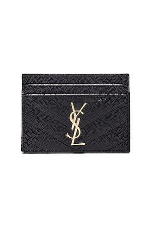 Saint Laurent Monogramme Quilted Credit Card Case in