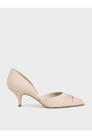 CHARLES & KEITH Ruched D'Orsay Court Shoes