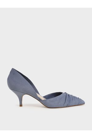 CHARLES & KEITH Textured Ruched D'Orsay Court Shoes