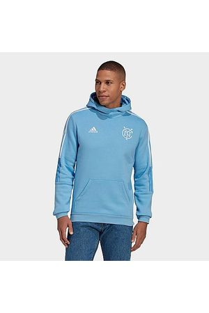 Adidas Team Men's adidas New York City FC Travel Hoodie in /Bahia Light Size Small Fleece