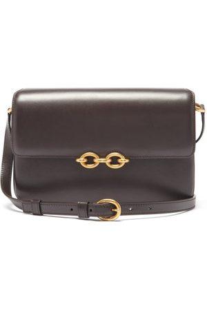 Saint Laurent Le Maillon Medium Leather Shoulder Bag - Womens - Dark