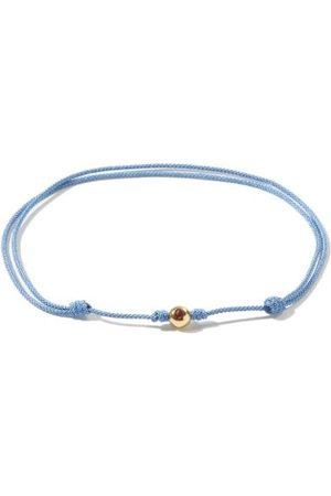 Luis Morais Men Bracelets - Ruby, 14kt Gold & Cord Bracelet - Mens