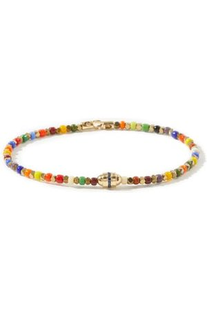 LUIS MORAIS Sapphire, Gemstone & 14kt Gold Bracelet - Mens - Multi