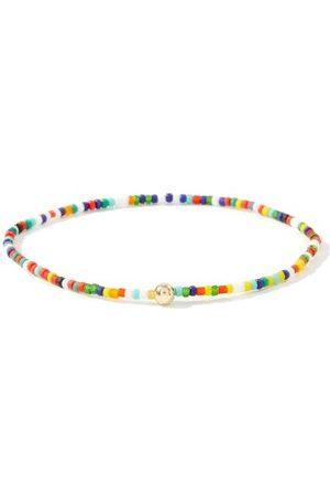 Luis Morais Diamond & 14kt Gold Beaded Bracelet - Mens - Multi