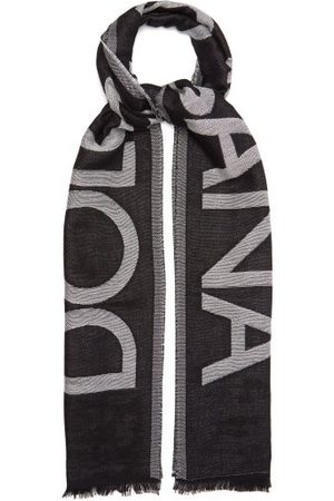 Dolce & Gabbana Men Scarves - Logo-jacquard Cotton-blend Scarf - Mens
