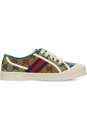 Gucci Gg Canvas & Leather Sneakers