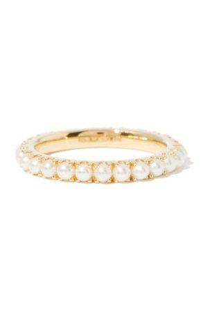 ROSA DE LA CRUZ Women Rings - Eternity Pearl & 18kt Gold Ring - Womens - Pearl
