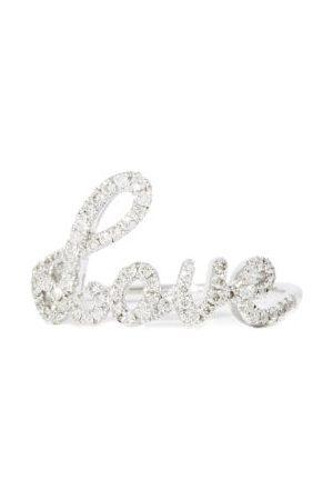ROSA DE LA CRUZ Love Text Diamond & 18kt - Ring - Womens